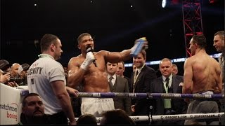 ANTHONY JOSHUA CALLS OUT TYSON FURY IMMEDIATELY AFTER TKO AS DISTRAUGHT KLITSCHKO BROTHERS WATCH ON