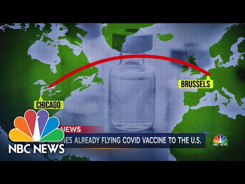 First Doses of Pfizer's Covid-19 Vaccine On The Move | NBC Nightly News