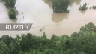 USA: 3 dead, 7,000 forced to flee after heavy floods hit in Louisiana