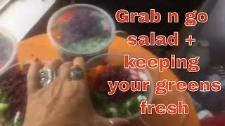 How to Keep Your Salad Fresh for 5 days-Ninja in the Kitchen {Tips}