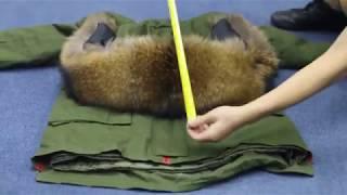 Толстая, теплая парка с капюшоном-(натуральный мех енота.) - видео 1