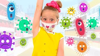 Nastya and a song for children about masks