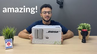 These speakers sound AMAZING!!   Bose Companion 20 Unboxing