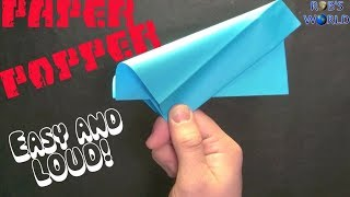 How to Make a Paper Popper! (Easy and Loud) - Rob