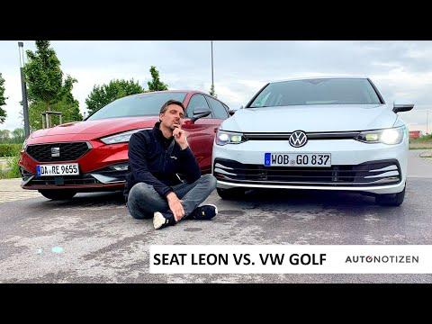 VW GOLF 8 vs. SEAT LEON 2020: Vergleich der Unterschiede / statisches Review