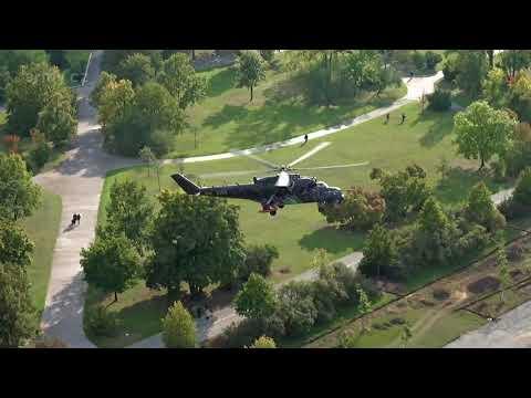 Armádní vrtulníky nad Prahou