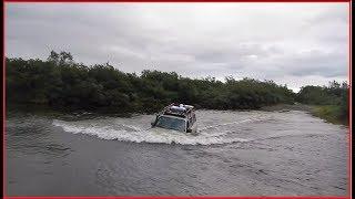 оказалось СЛИШКОМ глубоко - ВБРОД через реку!!! (п-ов Средний)
