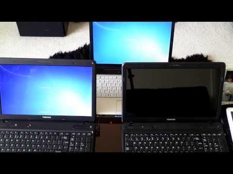 Closing time comparison, Toshiba L650 I5 560M SSD, vd C660 Celeron 925 vs A210 Core Duo 2 T7300