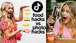 Viral TikTok PHOTO HACKS Vs FOOD HACKS