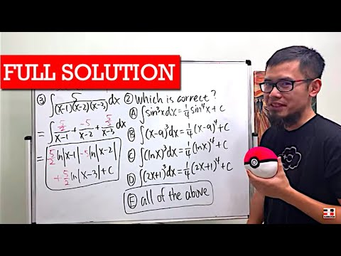 Solving My Calc 2 Exam (what integration technique do we use?)