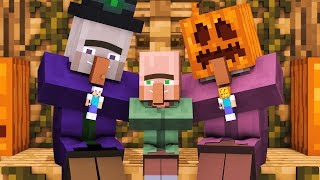 Villager & Witch Life: FULL ANIMATION - Alien Being Minecraft Animation