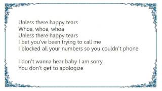 Cheryl - Happy Tears Lyrics