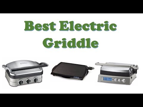 , Elechomes Electric Grill Griddle with LED Touch Control