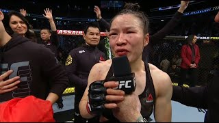 Zhang Weili defended her UFC strawweight title against Joanna Jedzejczyk at UFC 248 via split decision on Saturday night and improved to 21-1 in a wildly entertaining instant classic.  Subscribe to get all the latest UFC content: http://bit.ly/2uJRzRR  Experience UFC live with UFC FIGHT PASS, the digital subscription service of the UFC. Visit https://ufcfightpass.com/  To order UFC Pay-Per-Views on ESPN+, visit https://bit.ly/2vNIBE8 (U.S. only)  To order UFC Pay-Per-Views, visit http://welcome.ufcfightpass.com/#PPV (Non U.S.)  Connect with UFC online and on Social: Website: http://www.ufc.com Twitter: http://www.twitter.com/ufc Facebook: http://www.facebook.com/ufc Instagram: http://www.instagram.com/ufc Snapchat: UFC Periscope: http://Periscope.tv/ufc  Connect with UFC FIGHT PASS on Social: Twitter: http://www.twitter.com/ufcfightpass Facebook: http://www.facebook.com/ufcfightpass Instagram: http://www.instagram.com/ufcfightpass