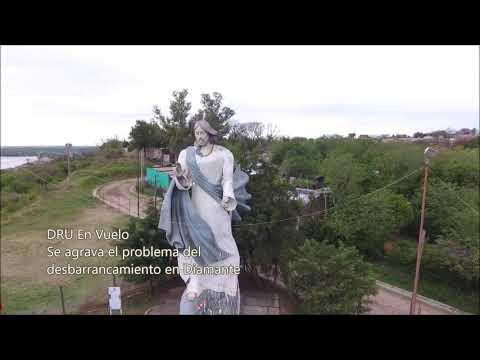 El drone de Diario río Uruguay en el desbarrancamiento de Diamante