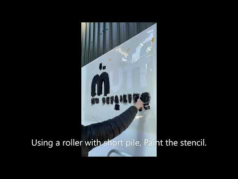 Large stencil application - a step by step guide