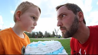 3 Year Old Cakes Dad In The FACE!