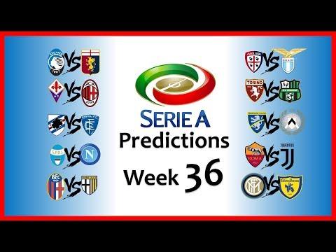 2018-19 SERIE A PREDICTIONS - WEEK 36