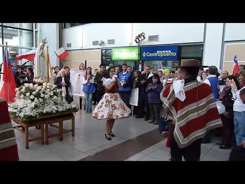 (5)Cenizas de Chile. Esquinazo a la Virgen de Fátima en Chile Aeropuerto Pudahuel.16-09-2019.