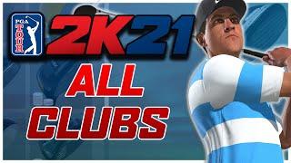 PGA Tour 2K21: All Golf Clubs