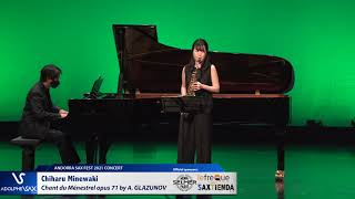 Chiharu Minewaki plays Chant du Ménestrel opus 71 by Alexander GLAZUNOV