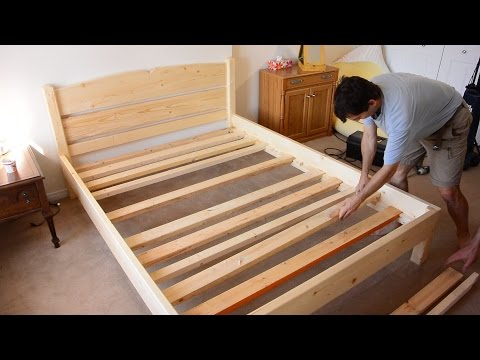 Building a queen size bed from 2x4 lumber