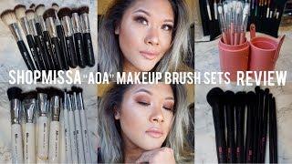 SHOPMISSA AOA Brush Sets Review + Demo | Shereezyxo