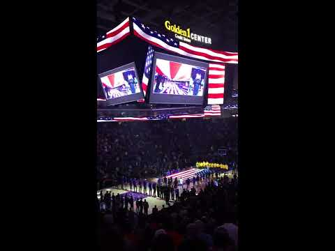 I was invited to perform the National Anthem in ASL at the Sacramento Kings game. Watch from a different angle: https://vimeo.com/196800936