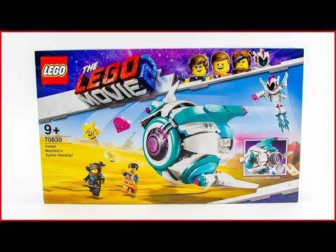 UNBOXING LEGO Movie 2 70830 Sweet Mayhem's Systar Starship Construction Toy Speed Build