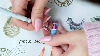 """Зимний дизайн ногтей """"Варежка"""" гелевыми лаками EzFlow от Компании Виктори и Кравченко Аллы"""