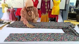 Teknik Menggunting Baju Kurung Tradisional