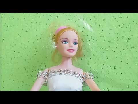 Barbie clothes from toilet paper  - a simple dress without sewing