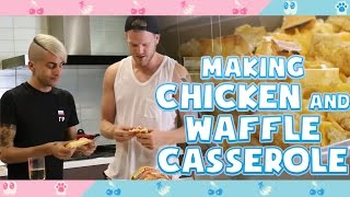 MAKING CHICKEN & WAFFLE CASSEROLE!
