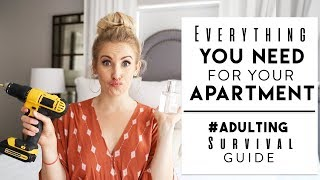 ADULTING SURVIVAL GUIDE | Stuff You NEED In Your First Apartment!