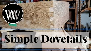 How to Hand Cut Dovetail Joints Simple and Easy Hand Tool Woodworking Skill