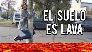 EL SUELO ES LAVA: THE FLOOR IS LAVA CHALLENGE | Lyna Vlogs