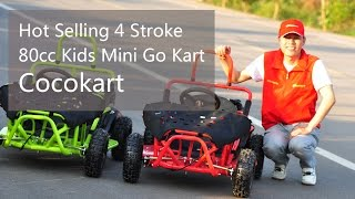Hot Selling 4 Stroke 80cc Gasoline Kids Mini Go Kart-Cocokart GC8001