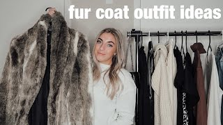 How To Wear & Style a Fur Coat: outfit ideas & inspo | Morgan Green