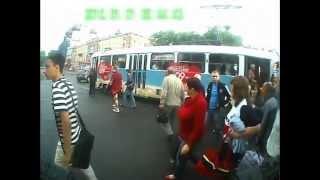 Смотреть онлайн Авария с участием трамвая, троллейбуса, маршрутки