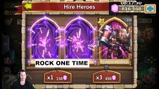 Rolling 100,000+ For ROCKNO New Hero BEAST Castle Clash