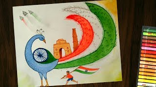 Republic Day Drawing Competition Pictures Peacock म फ त