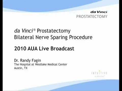 daVinci Prostatectomy Bilateral Nerve Sparing Procedure (AUA 2010 live broadcast)