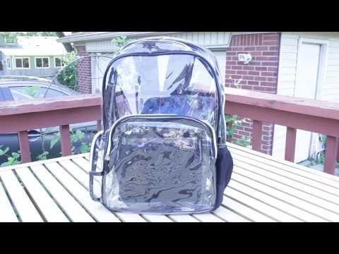Wiscky Clear Bag Backpack Heavy Duty Clear Book Bag for School Stadium Approved Review Test