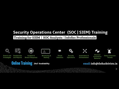 Security Operations Center Training (SOC | SIEM) - The Hacktivists ...
