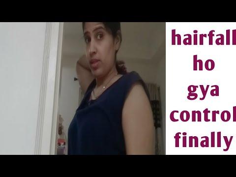 Finally I am so happy , bcoz hairfall ho gya control completely 🤗   mujhe desi khana psand hai