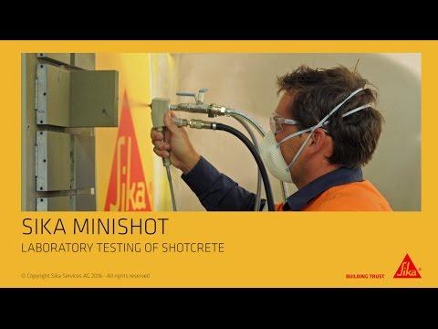 Sika Minishot – Shotcrete Testing on a laboratory scale