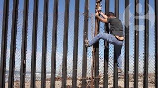 Palestinian artist at Mexico/US border: