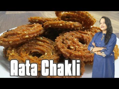 Aata Chakli recipe - Wheat flour chakli - Diwali recipes