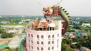 videos de risa dragón alrededor del templo