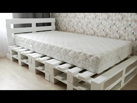 Verry Simple Bed Frame From Pallets 7 Steps With Pictures Instructables